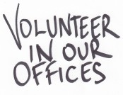 Volunteer in our offices
